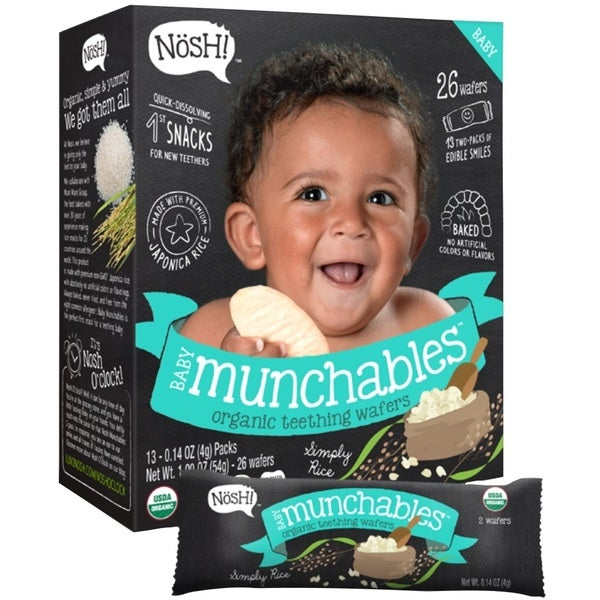 Nosh Baby Munchables Simply Rice Organic Rice Teething Wafers (Case of 26) 24542550