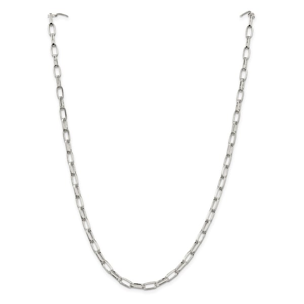 Sterling Silver 5mm Elongated Open Link Chain 24552172