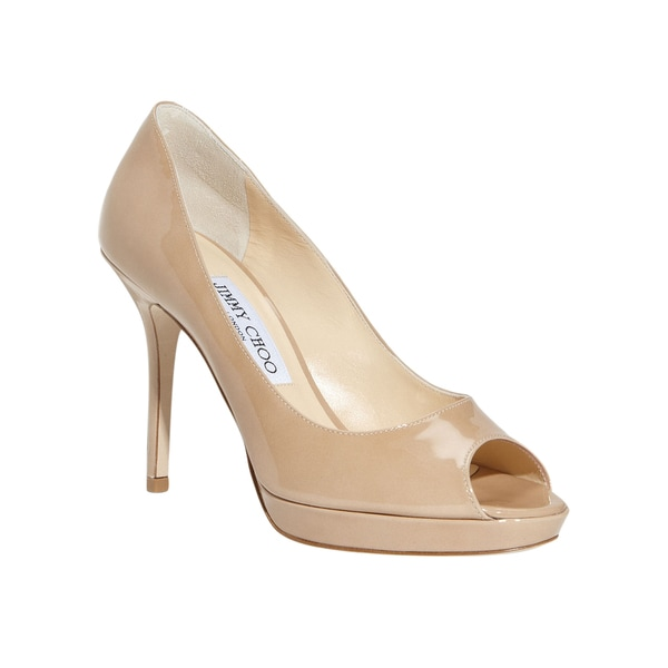Jimmy Choo Luna Nude Patent Pumps 24559099
