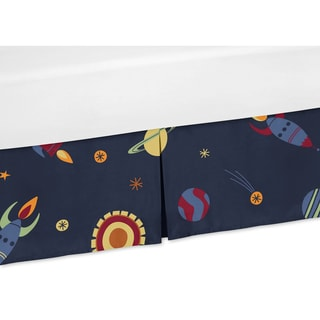 Sweet Jojo Designs Space Galaxy Collection Crib Bed Skirt