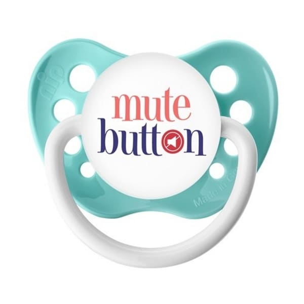 Ulubulu Mute Button Blue Classic Expression Pacifier 6-18 Months 24562803