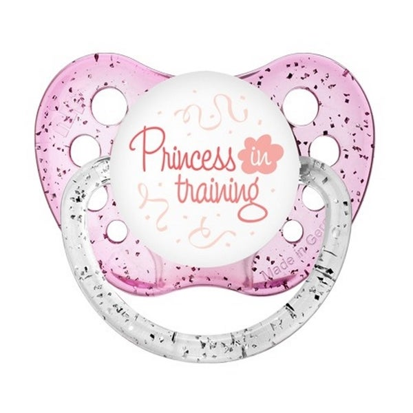 Ulubulu Princess in Training Glitter Pink Classic Expression Pacifier 6-18 Months 24562823