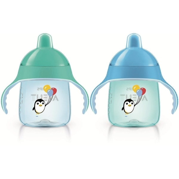 Philips Avent Teal/Blue My Penguin 9-ounce Sippy Cup (Pack of 2) 24565226