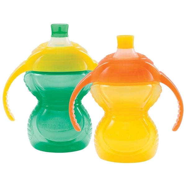Munchkin Aqua/Yellow Click Lock Bite Proof 7-ounce Trainer Cup (2 Pack) 24565308