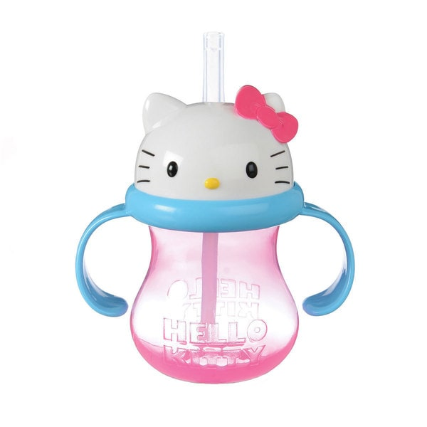 Munchkin Pink Hello Kitty 8-ounceStraw Cup 24565343