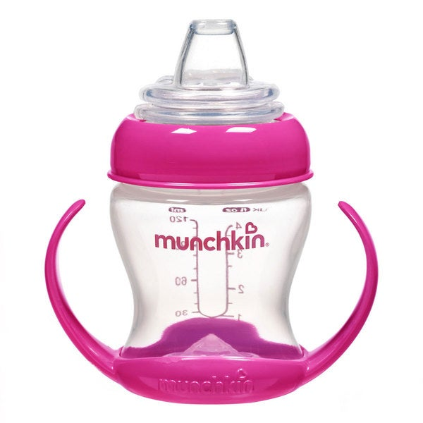 Munchkin Pink Flexi-Transition 4-ounce Trainer Cup 24565355