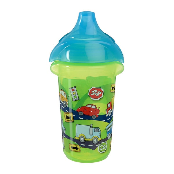 Munchkin Green Cars Click Lock Decorated 9-ounce Sippy Cup 24565468
