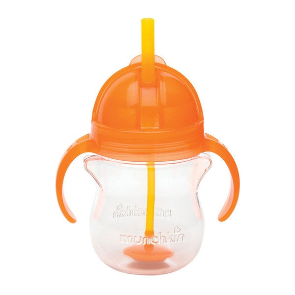 Munchkin Orange Plastic 7-ounce Click Lock Weighted Straw Cup 24565588
