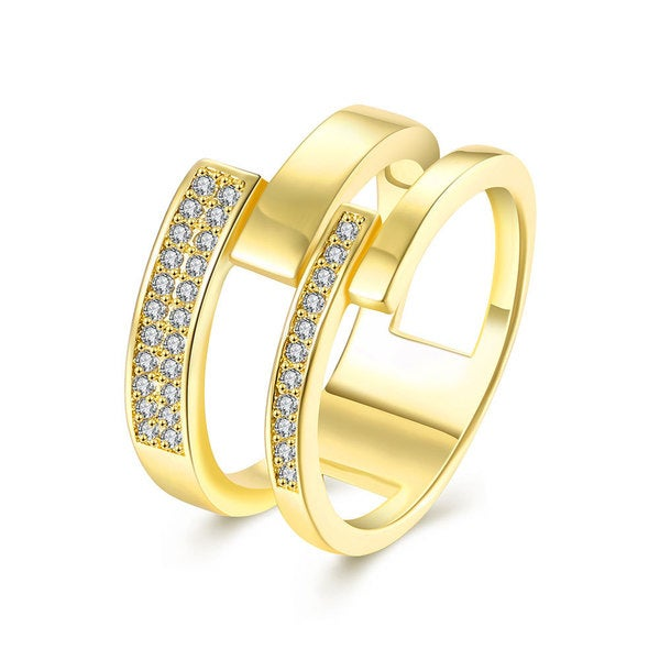 18k Goldplated Crystal Elements Insert Petite Ring 24566279