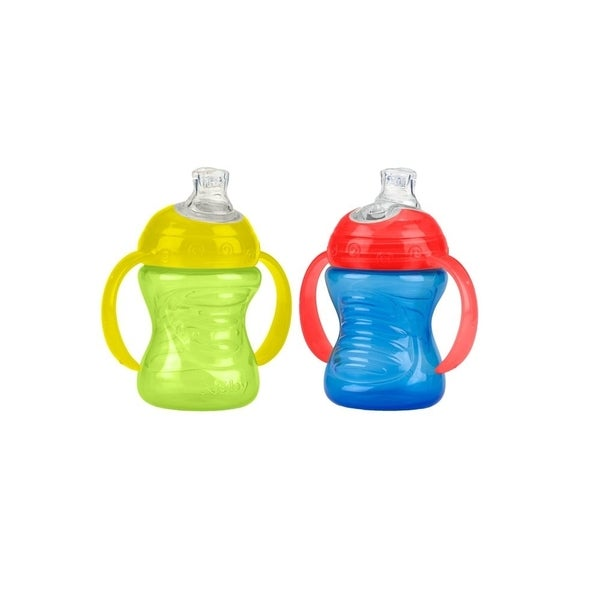 Nuby Blue/Green Plastic 2-Handle 8-ounce No-spill Sip Cup (2 Count) 24567926