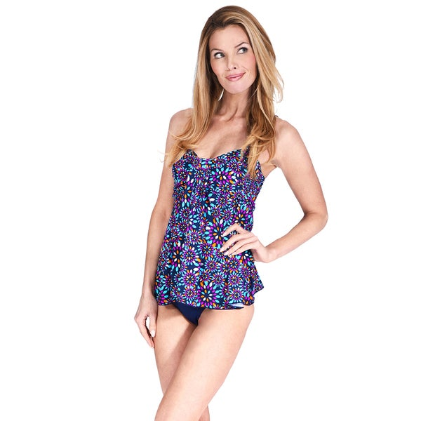 Drape Bandeau Women's Tankini Top by Mazu Swim 24568439