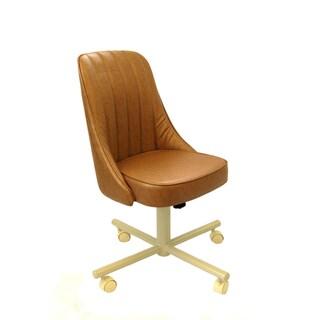 Caster Chair Company C52 Cindy Swivel Tilt Caster Arm Chair in Buff Vinyl