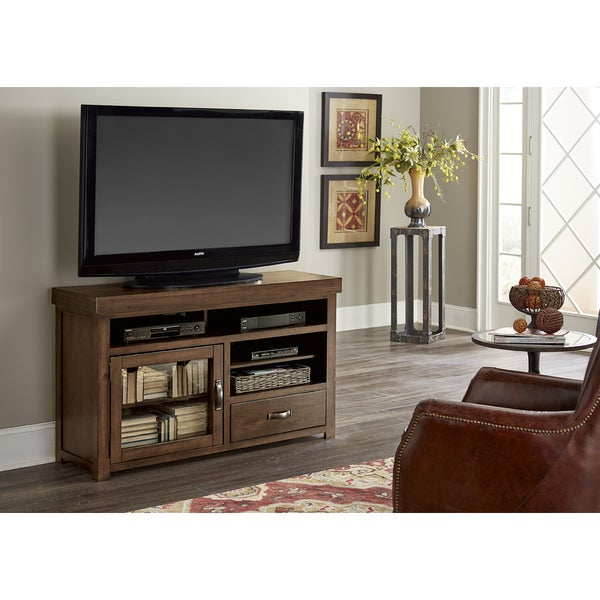 Navaro Distressed Brown Entertainment Center