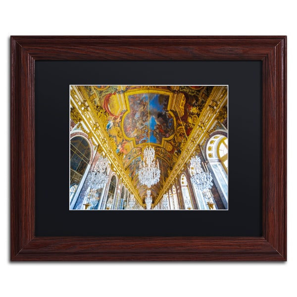Yale Gurney 'Versailles Hall Of Windows' Matted Framed Art - Yellow 24598048