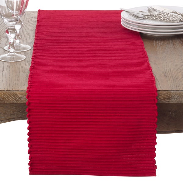 Classic Ribbed Cotton Table Runner 24599820