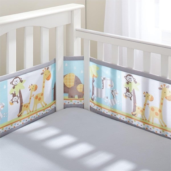 BreathableBaby Best Friend Breathable Mesh Printed Crib Liner 24602153