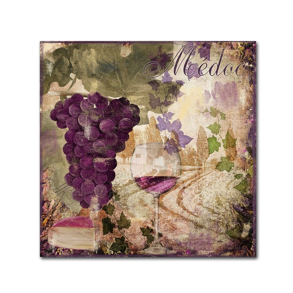 Color Bakery 'Wine Country IV' Canvas Art - Purple 24635042