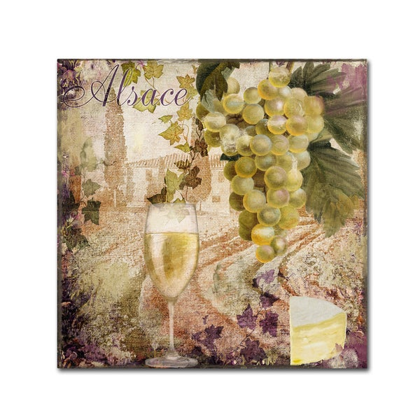 Color Bakery 'Wine Country I' Canvas Art - Brown 24635110