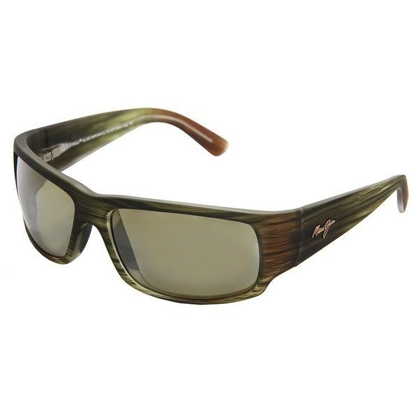Maui Jim World Cup HT266-15MR Unisex Matte Green Stripe Rubber Frame Maui HT Lens Sunglasses 24648577