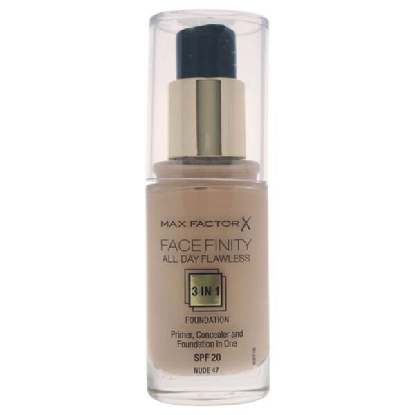 Max Factor Facefinity All Day Flawless 3-in-1 Foundation SPF 20 47 Nude 24649275