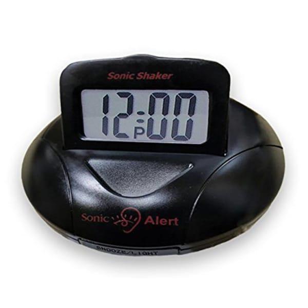 "Sonic Alert Sonic Shaker .75"" Digital Vibrating Alarm Clock (Black) SBP100B 24650059"