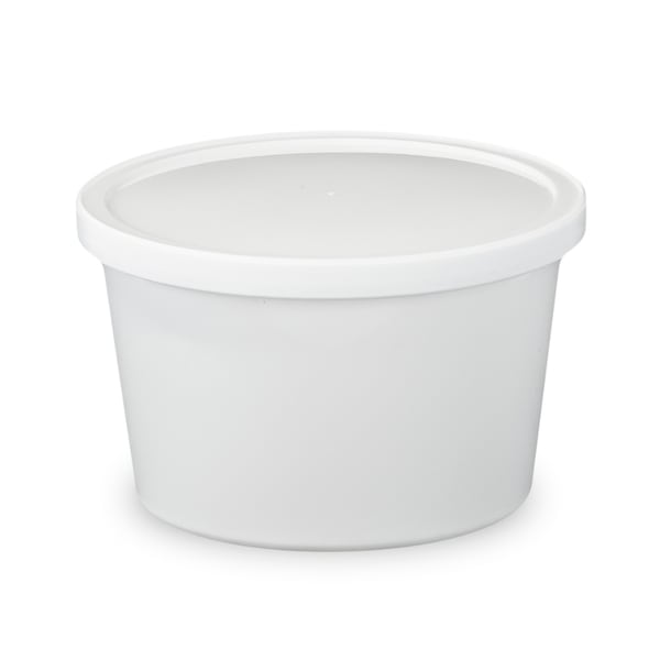 ePackageSupply - 16 oz. Food Grade Round Container with Lid - White in Quantities of 10 or 25 24664530