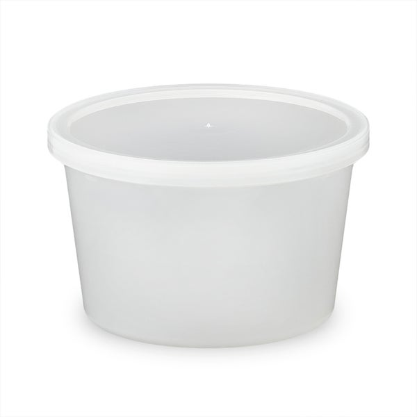 ePackageSupply - 16 oz. Food Grade Round Container with Lid - Translucent in Quantities of 10 or 25 24664552