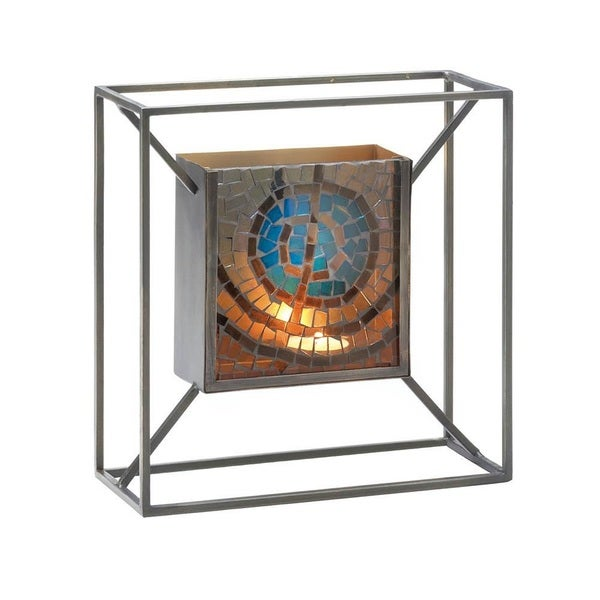Gallery Artistic Blue Wall Candle Holder 24678442