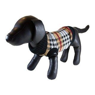 Petcessory Brown Grid Plaid Turtleneck Dog Sweater