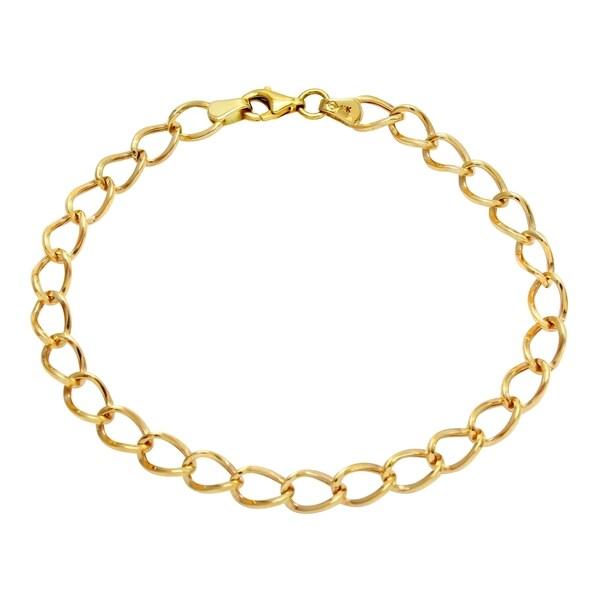 14k Yellow Gold Link Bracelet 24694308