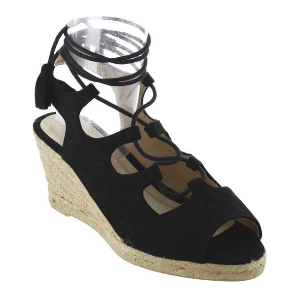 Refresh Women's IE83 Lace-up Strappy Espadrille Platform Wedge Sandals 24711798