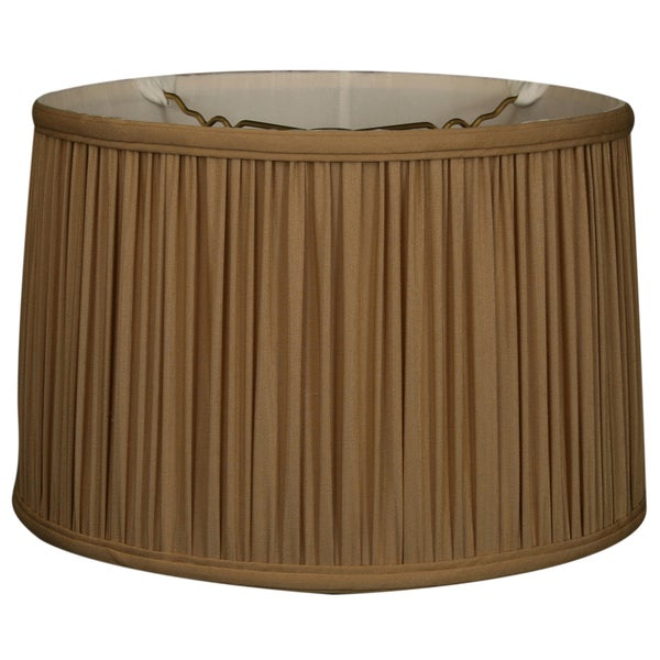 Royal Designs Shallow Drum Gather Pleat Basic Lamp Shade, Antique Gold, 17 x 18 x 11.5 24718310
