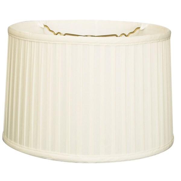 Royal Designs Shallow Drum Side Pleat Basic Lamp Shade, White, 17 x 18 x 11.5 24718418