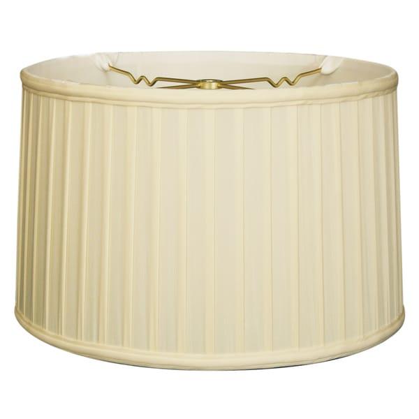 Royal Designs Shallow Drum Side Pleat Basic Lamp Shade, Eggshell, 17 x 18 x 11.5 24718421
