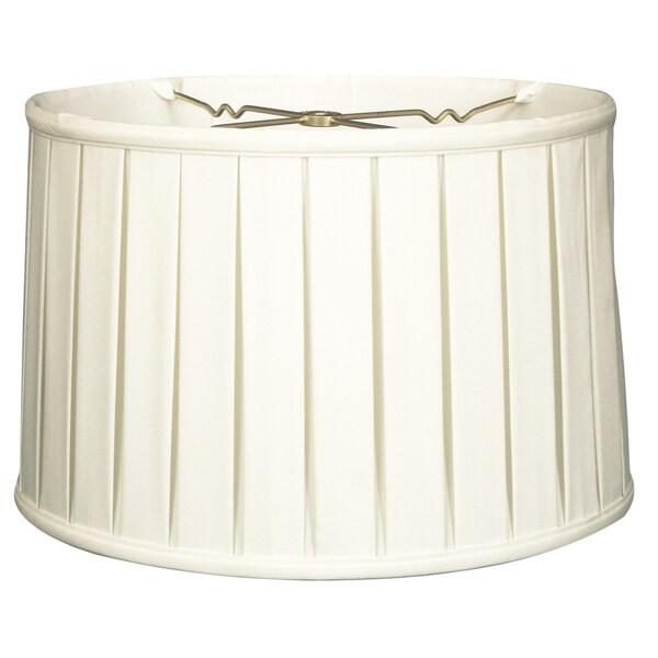 Royal Designs Shallow Drum English Box Pleat Basic Lamp Shade, White, 17 x 18 x 11.5, 6-way 24718472