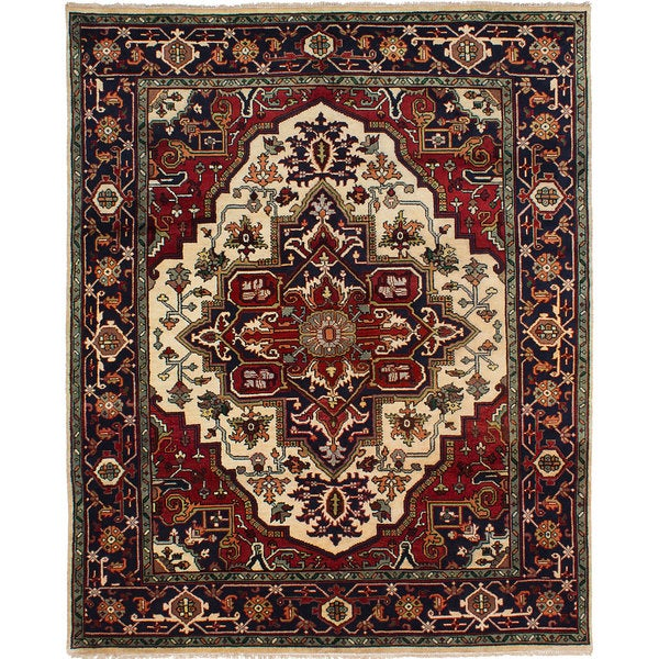 eCarpetGallery Serapi Heritage Ivory/Red Wool Hand-knotted Rug (8' x 10') 24718625