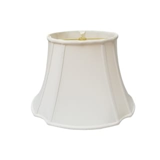 Royal Designs Oval Inverted Corner White Lamp Shade, (7.75 x 10) x (14.74 x 17) x 11.75