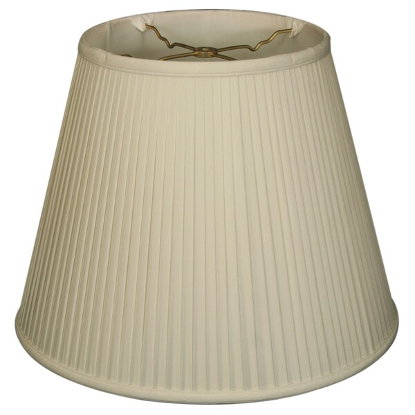 Royal Designs Empire Side Pleat Basic Lamp Shade, White, 11 x 18 x 13.5 24720115