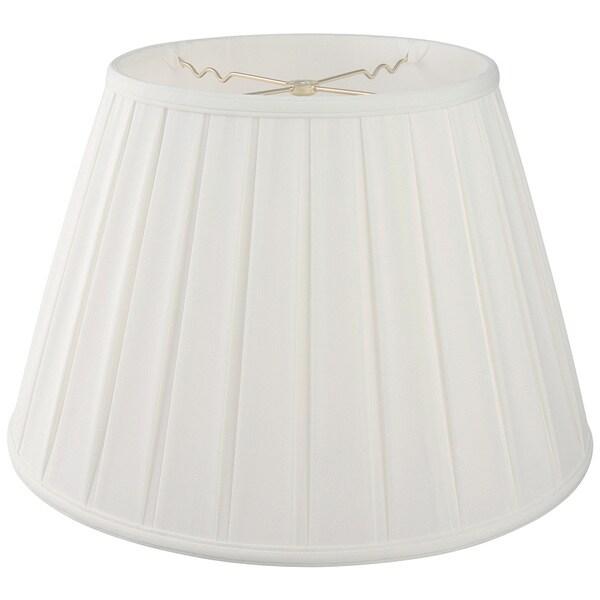 Royal Designs Empire English Pleat Basic Lamp Shade, White, 6-way 13 x 19 x 11.25 24720341
