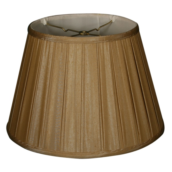 Royal Designs Empire English Pleat Basic Lamp Shade, Antique Gold, 6-way 13 x 19 x 11.25 24720344