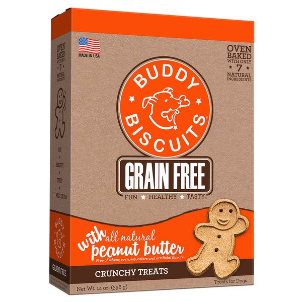 Buddy Biscuits Grain Free Oven Baked Crunchy Dog Treats Peanut Butter 24723235