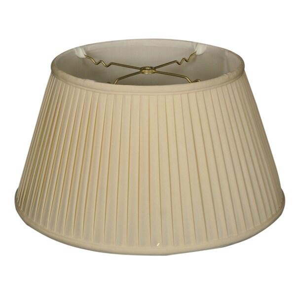 Royal Designs 6-Way / Side Pleat Basic Lamp Shade, Eggshell, 13 x 19 x 10.5 24723468