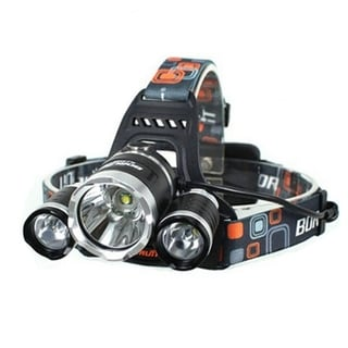 White Light LED 3-mode Black Aluminum Adjustable Headlamp