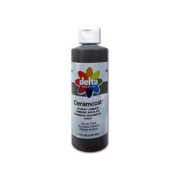 Delta Ceramcoat Acrylic 8oz Burnt Umber 24760697
