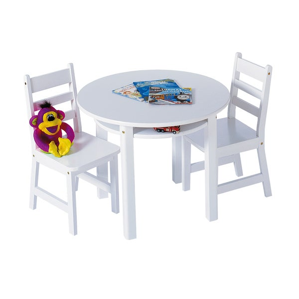 Lipper White Round Table and Chair Set 24766818