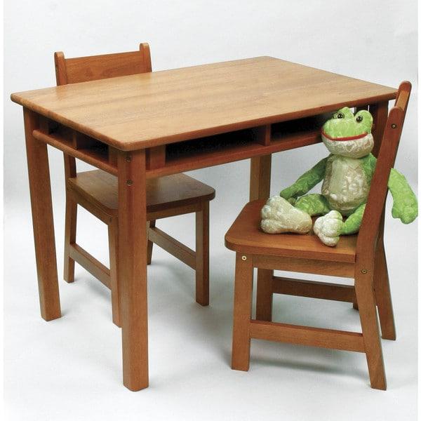 Lipper Pecan Rectangular Table and Chair Set 24766829
