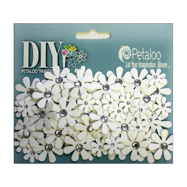 Petaloo DIY Paintables White Florettes Jeweled Crystals 24767466