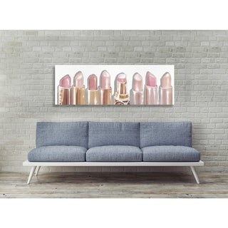 Oliver Gal 'Lipstick Shades' Fashion and Glam Wall Art Canvas Print - Pink, Gold