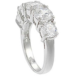 Tressa Collection Sterling Five Stone CZ Bridal & Engagement Ring