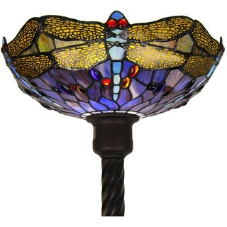 Tiffany-style Dragonfly Torchiere